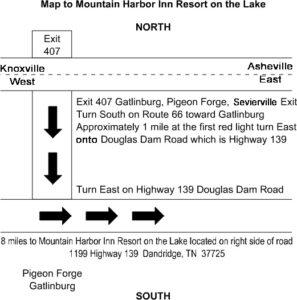 Map & Directions - Mountain Harbor Inn